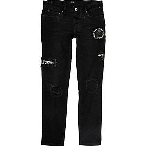 Sid zwarte skinny jeans met badge