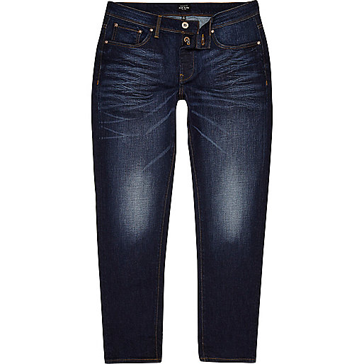 Dark blue Jimmy slim tapered jeans