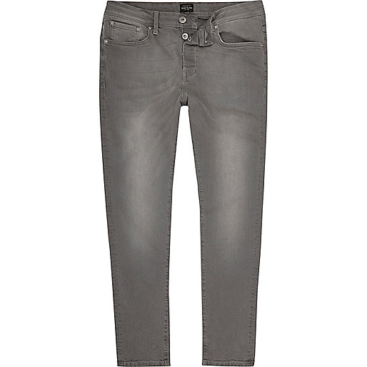 Light grey Jimmy slim tapered jeans