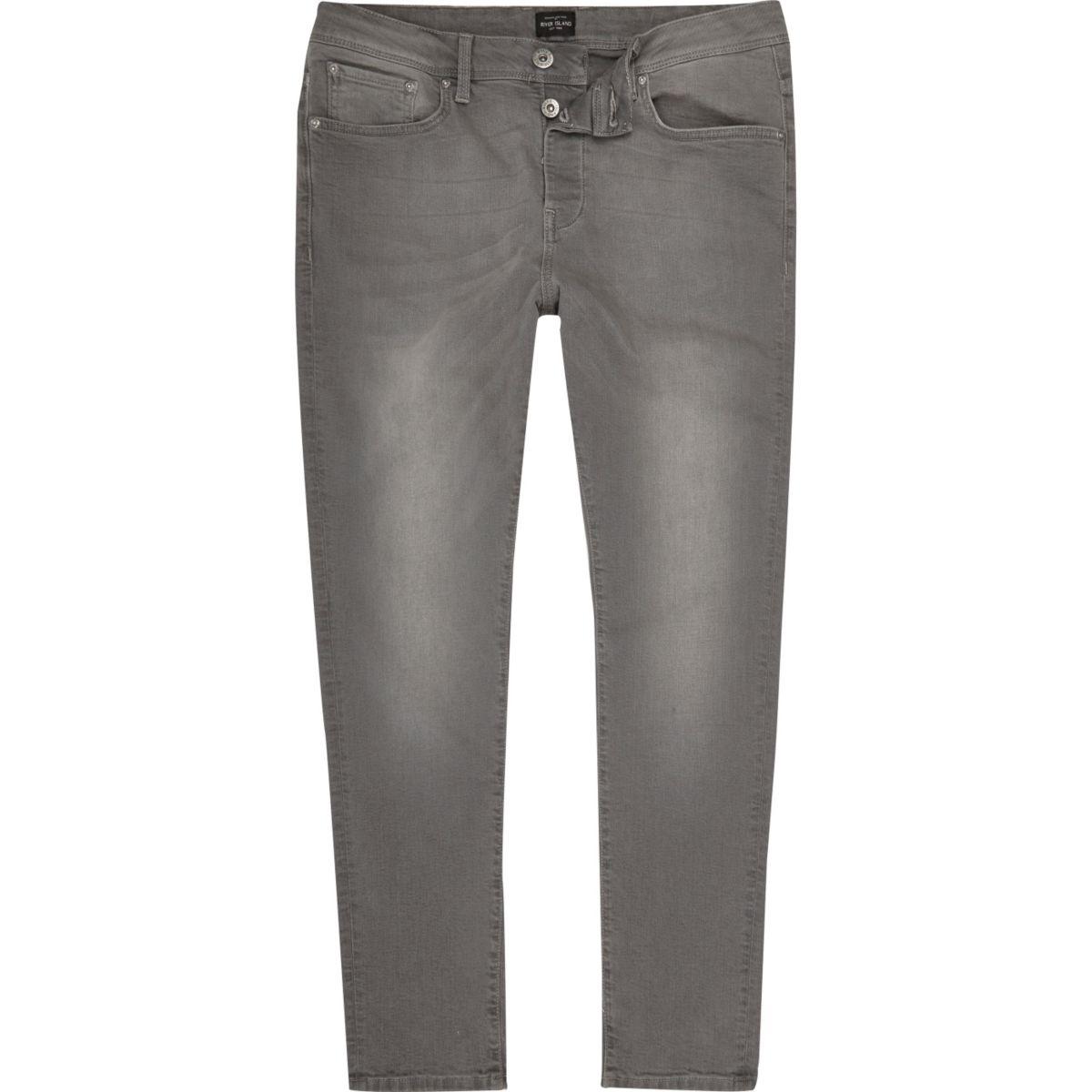 Light grey Jimmy slim tapered jeans
