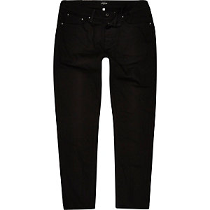 Black Jimmy slim tapered jeans