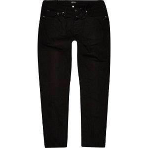 Jimmy - Zwarte smalle tapstoelopende jeans