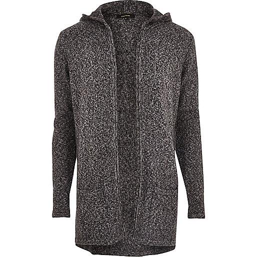 Grey grunge mohair open cardigan