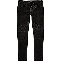 Sid – Schwarze Skinny Biker-Jeans