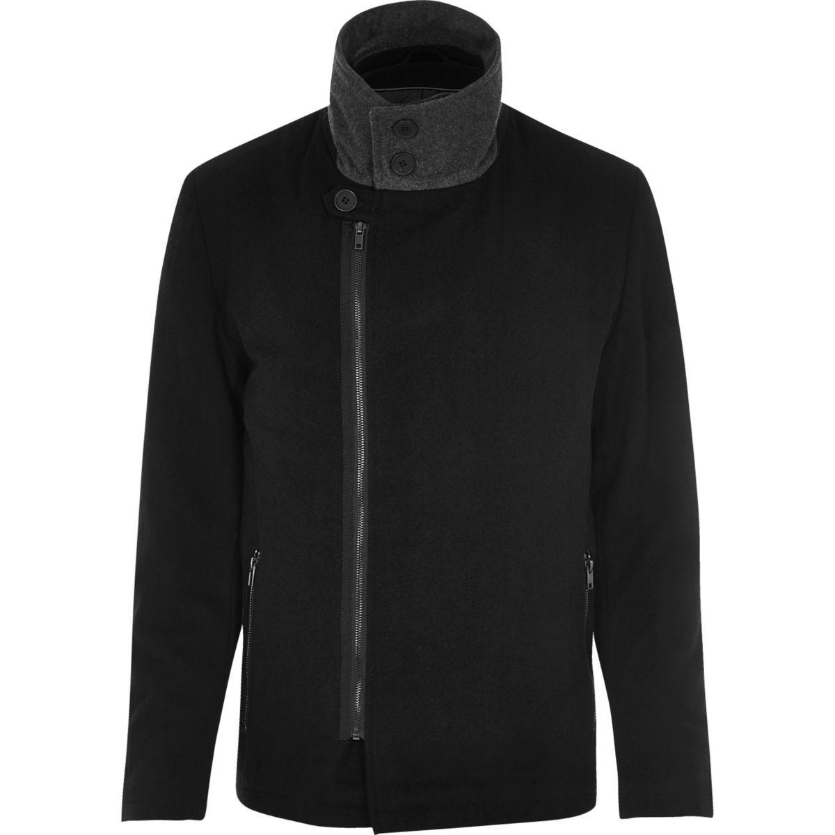 Black Vito turtleneck jacket