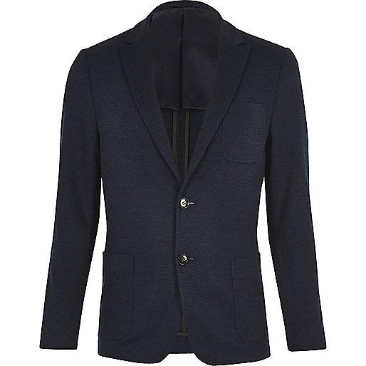 Blazer texturé Vito bleu foncé