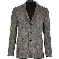 Grey Vito textured blazer