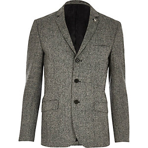 Grey Vito textured blazer
