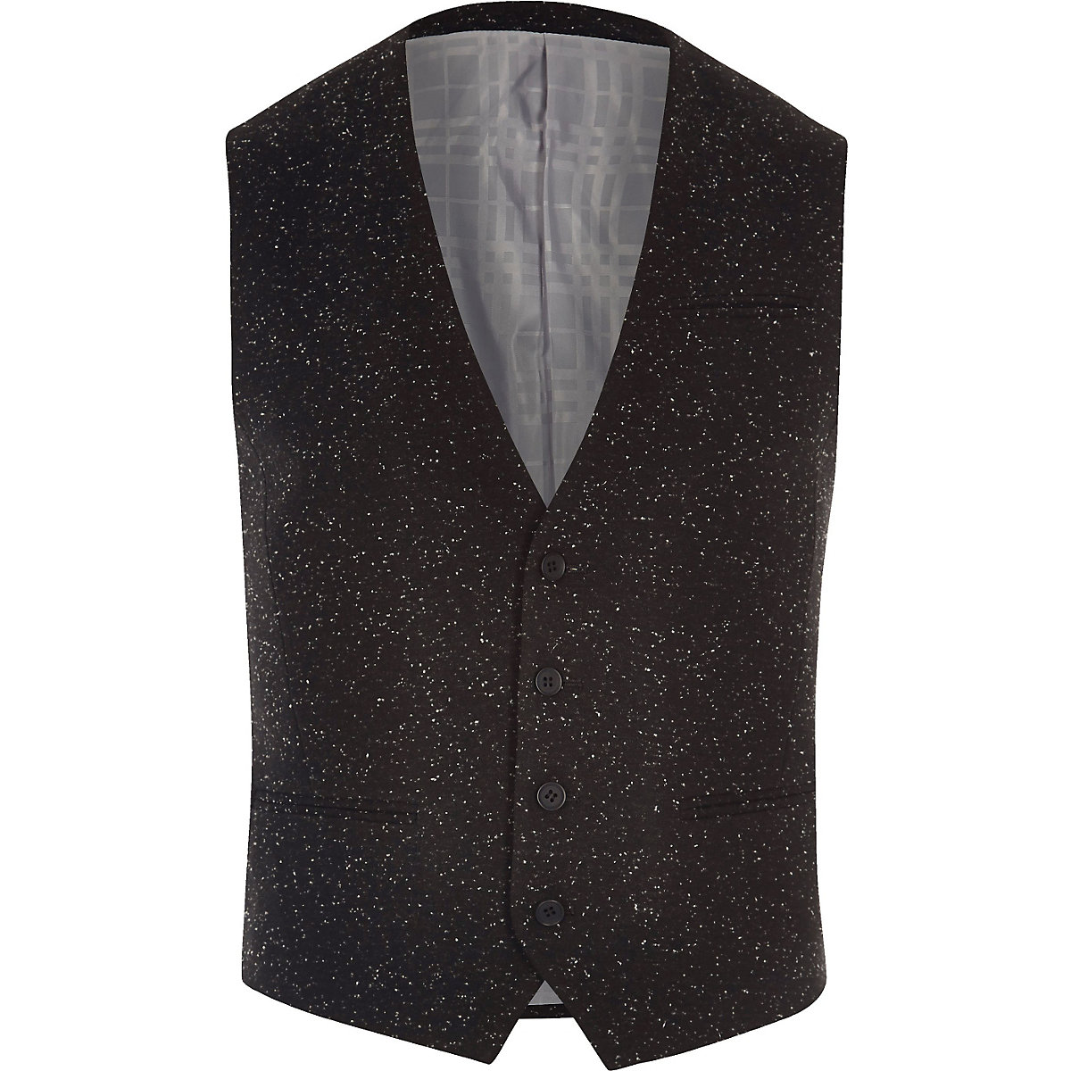 Black textured Vito vest