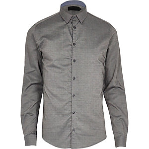 Mid grey Vito smart shirt
