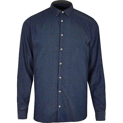 Chemise Vito bleu foncé habillée