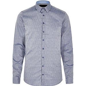 Vito – Blaues, strukturiertes Hemd