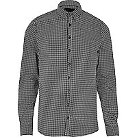 Black Vito check smart shirt