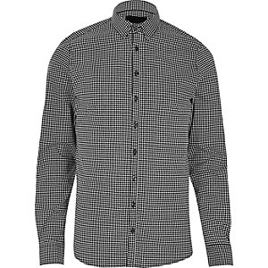 Black Vito check smart shirt