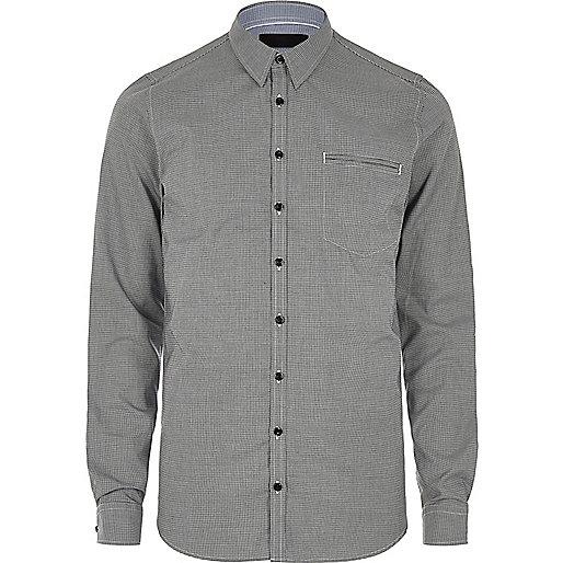 Chemise Vito grise habillée à poche