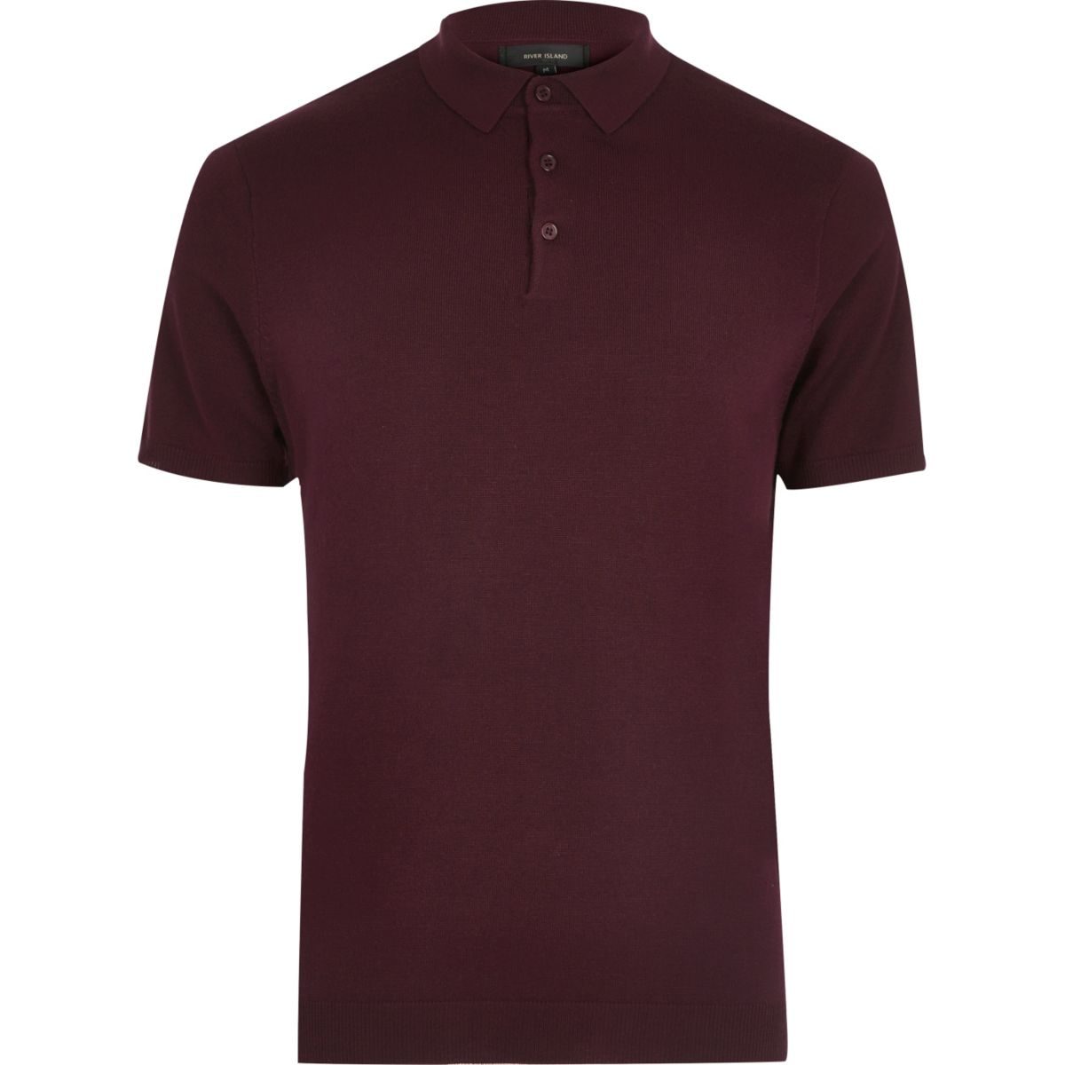 Dark purple slim fit polo shirt polo shirts sale men for Mens slim polo shirts
