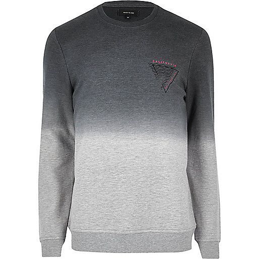 Grey marl faded logo sweatshirt