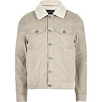 Stone borg lined corduroy jacket
