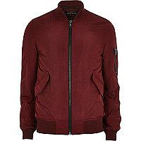 Burgundy MA1 bomber jacket