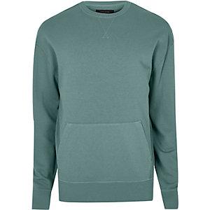 Light green pocket sweatshirt
