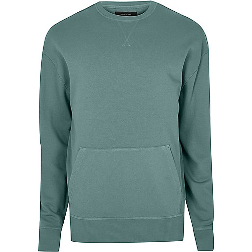 Light green pocket sweatshirt