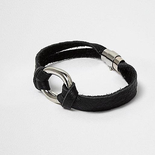Schwarzes Armband aus Wildlederimitat