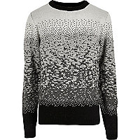 Bellfield black ombre Christmas jumper