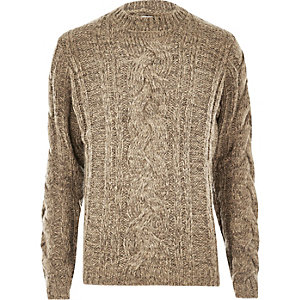 Ecru Bellfield chunky knit sweater