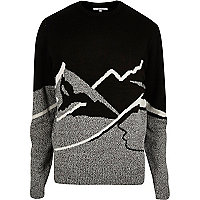 Bellfield black mountain Christmas sweater