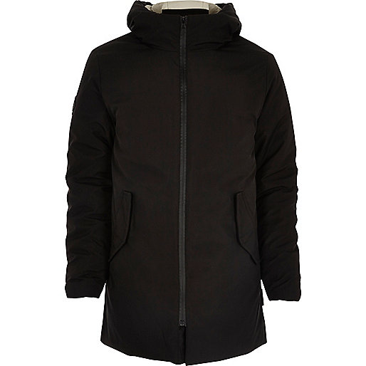 Black Bellfield padded parka with hood