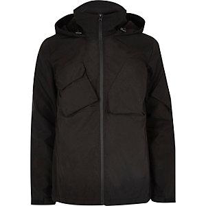 Veste Bellfield noire tech à capuche