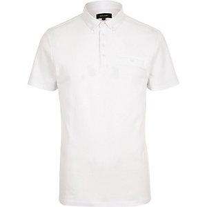 White button polo shirt