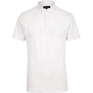 White button polo shirt