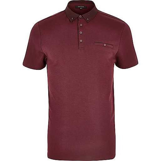 Burgundy button polo shirt polo shirts men Burgundy polo shirt boys
