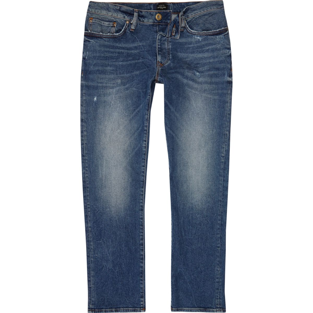 Mid blue wash Dylan slim fit jeans
