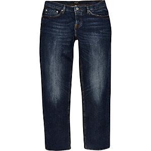 Vintage blue wash Dean straight jeans