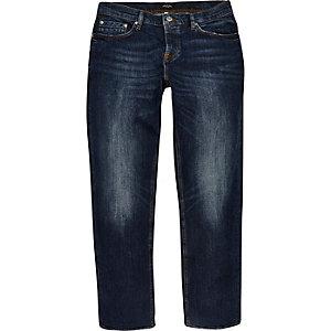 Dean rechte jeans met vintage-blauwe wassing