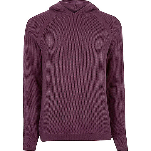 Purple perforated hoodie