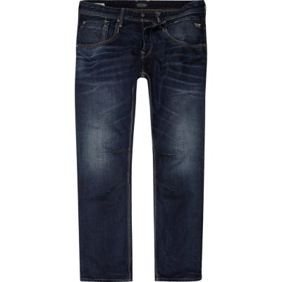 Jack and Jones blauwe ruimvallende jeans