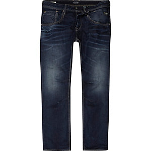 Jack & Jones – Blaue, kastige Jeans