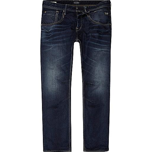 Blue Jack & Jones boxy fit jeans