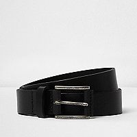Black cracked leather belt