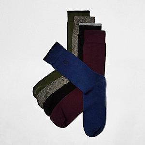Multipack met lichtbruine sokken met doodshoofdprint