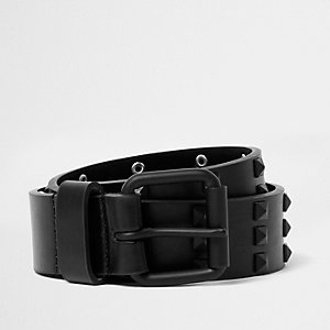 Black grunge stud belt