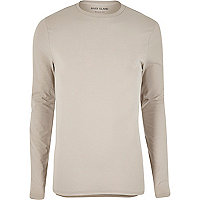 Stone regular fit long sleeve T-shirt