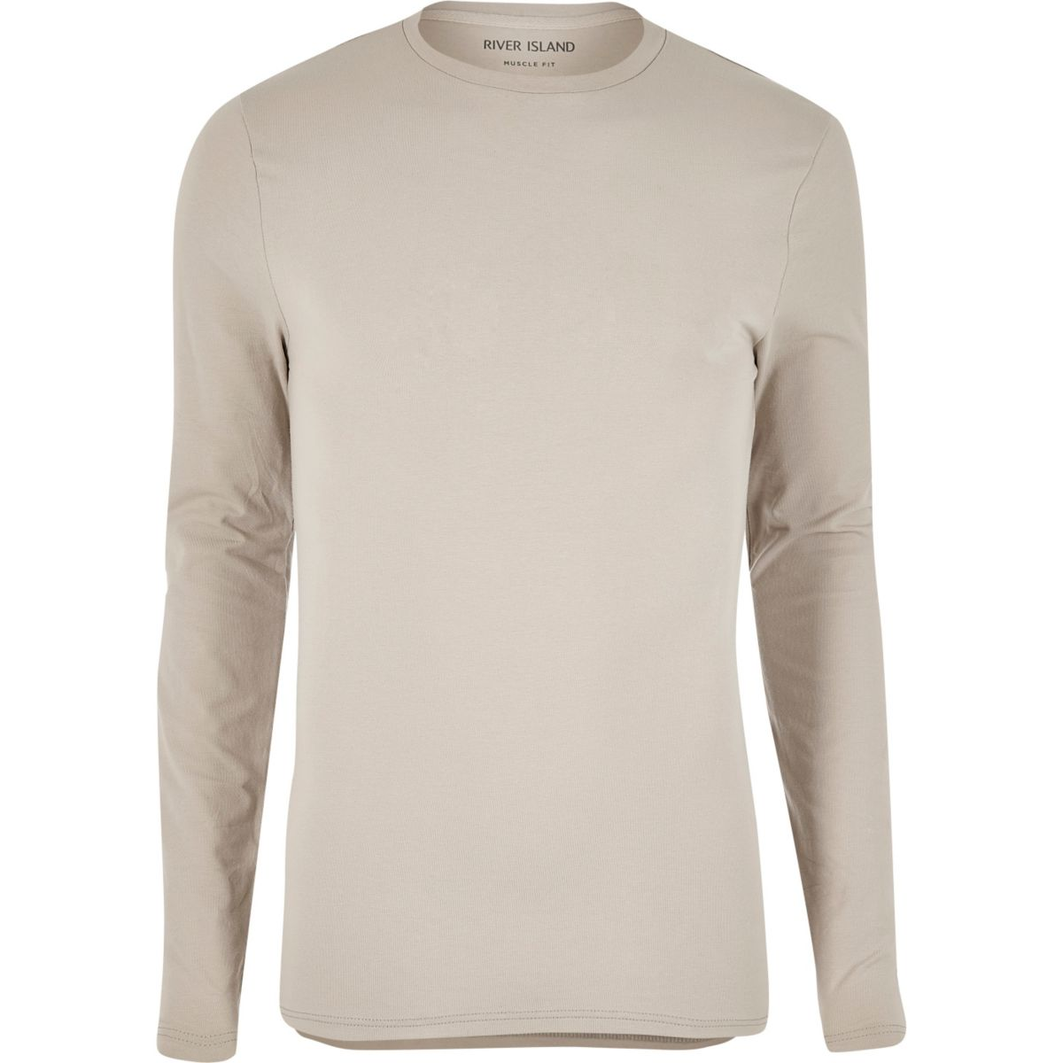 Stone long sleeve muscle fit T-shirt