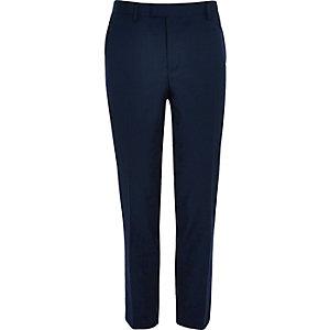 Pantalon de costume coupe skinny habillé bleu marine
