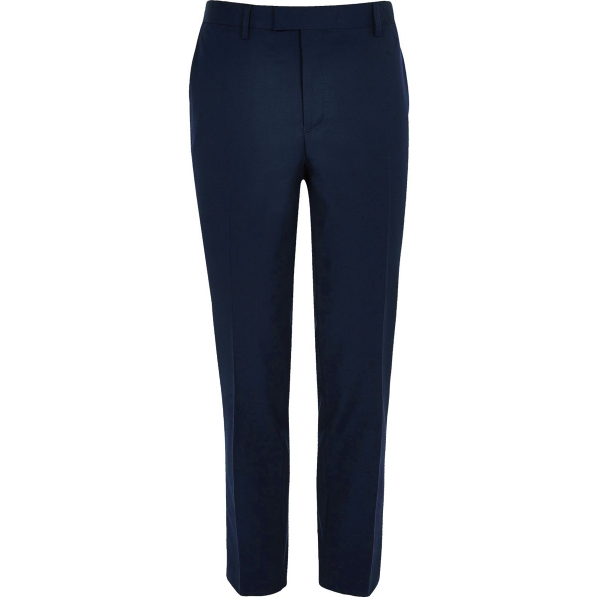 Marineblauwe nette skinny-fit pantalon