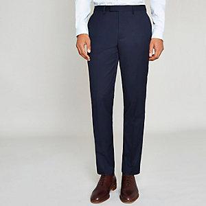 Pantalon de costume coupe slim bleu marine