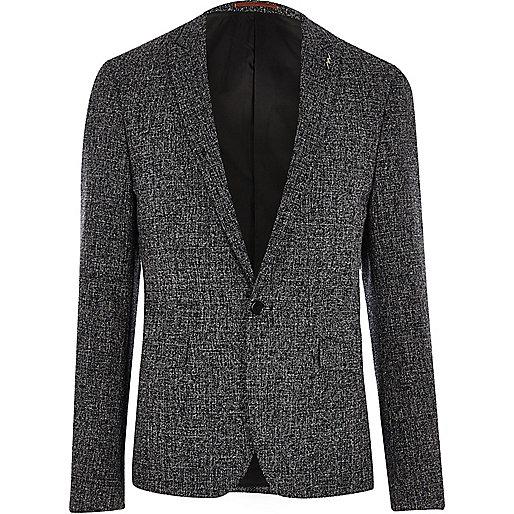 Marineblaue Slim Fit Anzugsjacke